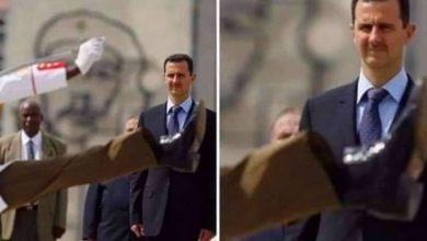 صورة لقطة العام /// صورة بشار الأسد والحـ.ـذاء قريب من وجهه ….