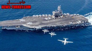 صورة عاجــــــــل // سقـ.ـوط صـ.ـواريخ إيرانية قرب حامـ.ـلة الطـ.ـائرات الأمريكية في المحيط الهندي